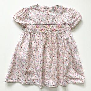 GEORGE Floral Dress w/ Smocking EUC 24 Mos